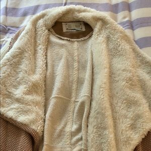 Light brown fur jacket